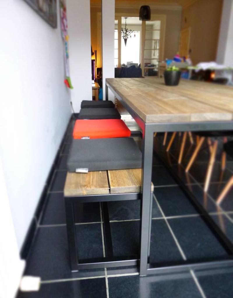 Voorkeur Thinkstyle Ferre bank voor aan tafel - gebruikt steigerhout @BM64