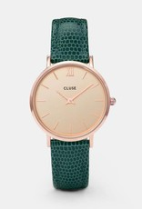 Cluse Cluse - Minuit rose gold champagne/ emerald lizard