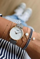 Cluse Cluse - Minuit rose gold white pearl/ stone grey
