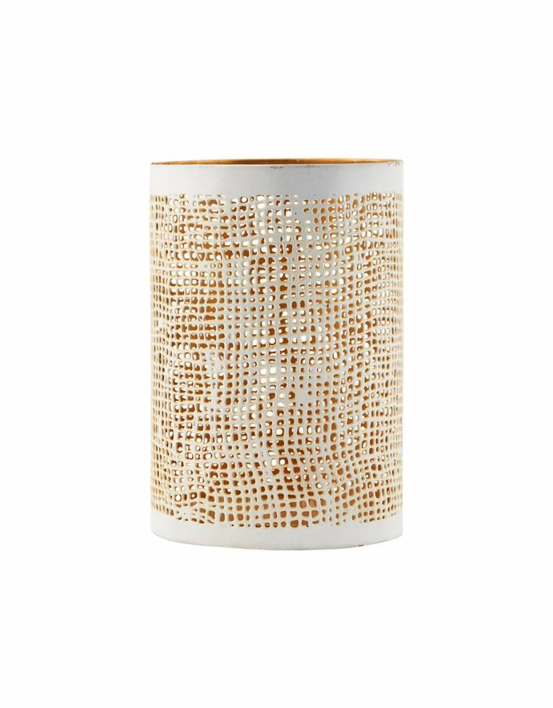 House Doctor House Doctor- Hurrican, Hessian, white/gold, small