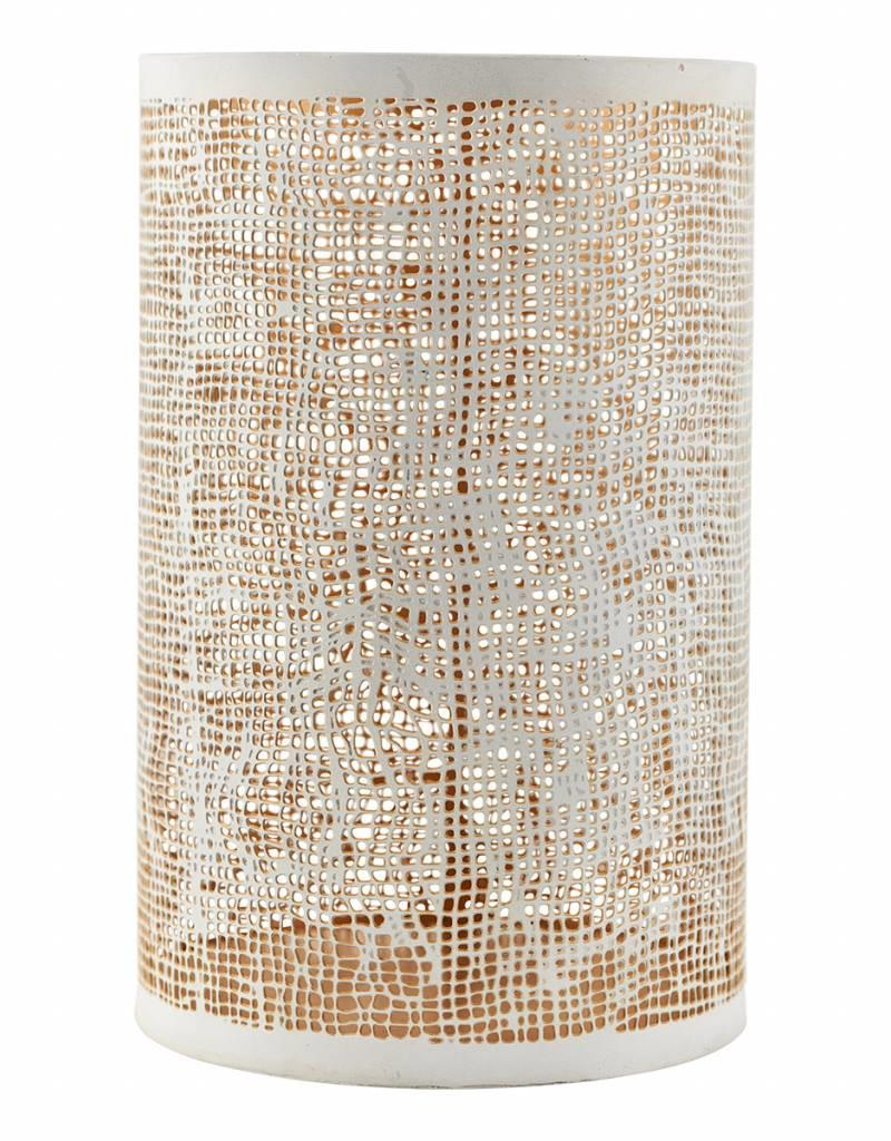 House Doctor House Doctor - Hurrican, Hessian, white/gold, large