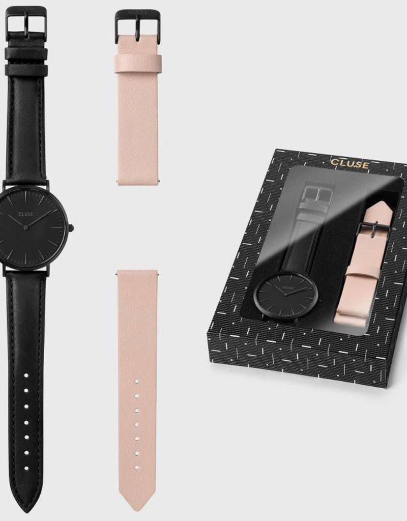 Cluse Cluse - La Boheme Box Full black/  nude strap