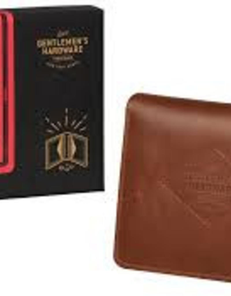 Gentlemen's hardware Gentlemen's hardware  - Charcoal leather wallet