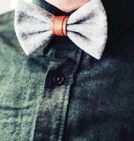 Gentlemen's hardware Bow tie Grey