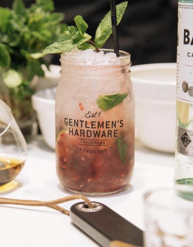 Gentlemen's hardware Gentlemen's hardware  - Muddler & glass jar cocktail set