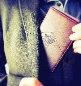 Gentlemen's hardware - Charcoal leather wallet