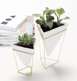Umbra Trigg desk set white - brass