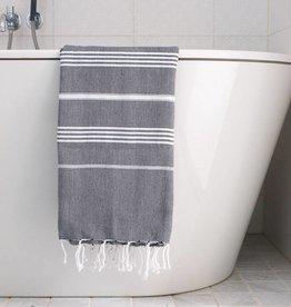 Ottomania Ottomania- Hammam towel black white