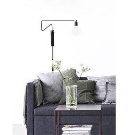 House Doctor -Wall lamp Swing Black Medium