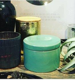 House Doctor - Jar w lid green