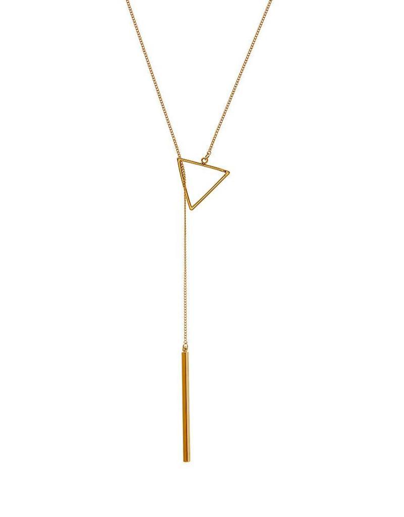 Juulry Juulry - Ketting driehoek goud