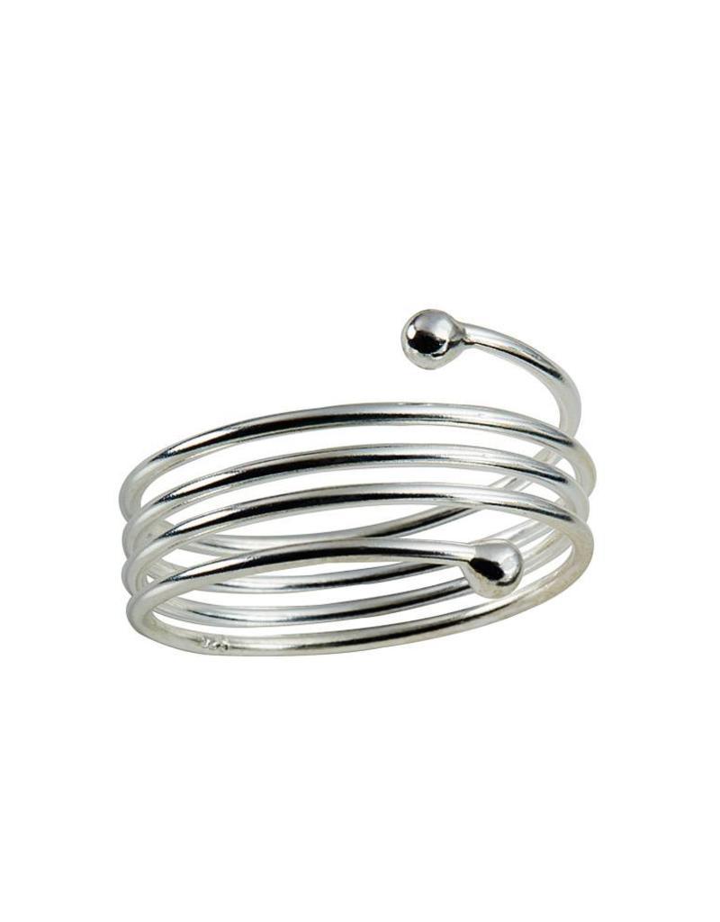 Juulry Juulry - Zilveren ring spiraal