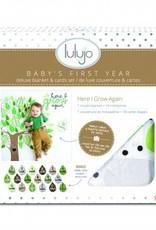 Lulujo Lulujo - swaddle & cards - Here I grow again