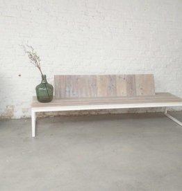 Thinkstyle Ferre zitbank met rugleuning - gebruikt steigerhout