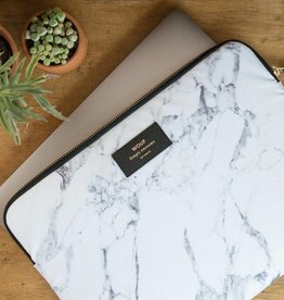 Wouf Laptop sleeve white marble
