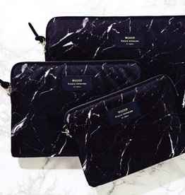 Wouf Laptop sleeve black marble
