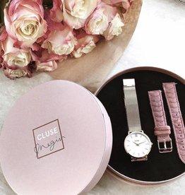 Cluse Minuit Rose gold - Negin velvet giftbox