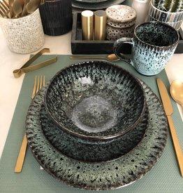 Madam Stoltz Stoneware bowl green