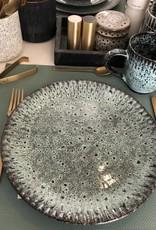 Madam Stoltz Madam Stoltz - Stoneware plate green Large