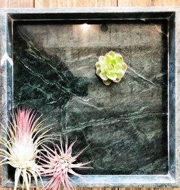 Madam Stoltz Marmer plateau - groen vierkant large