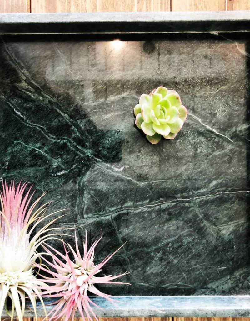 Madam Stoltz Madam Stoltz - Marmer plateau - groen vierkant large