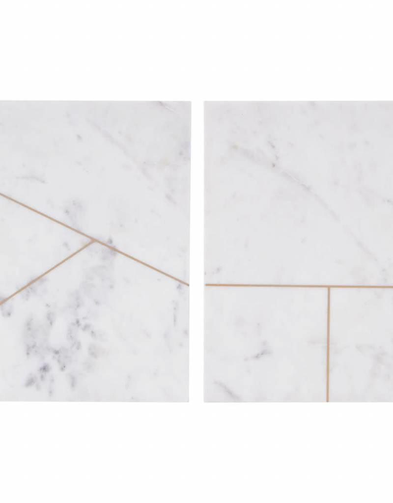 House Doctor House Doctor- Plate marble white 20x30