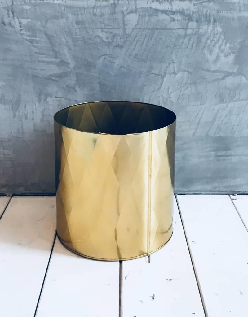 Madam Stoltz Madam Stoltz - Bloempot iron harlequin pattern - Gold X-Large