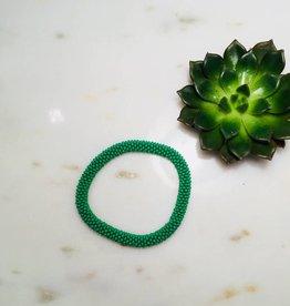 Biba Armband beads - mat green
