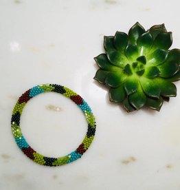 Biba Armband beads - bohemian green