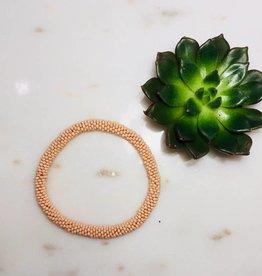 Biba Armband beads - soft nude