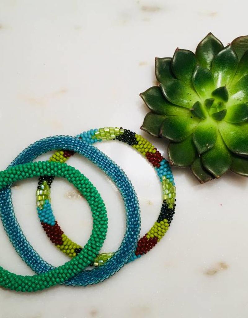 Biba Biba- Armband beads - mat blue