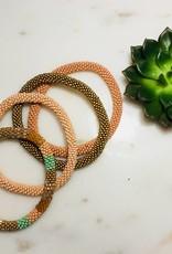 Biba Biba- Armband beads - soft nude