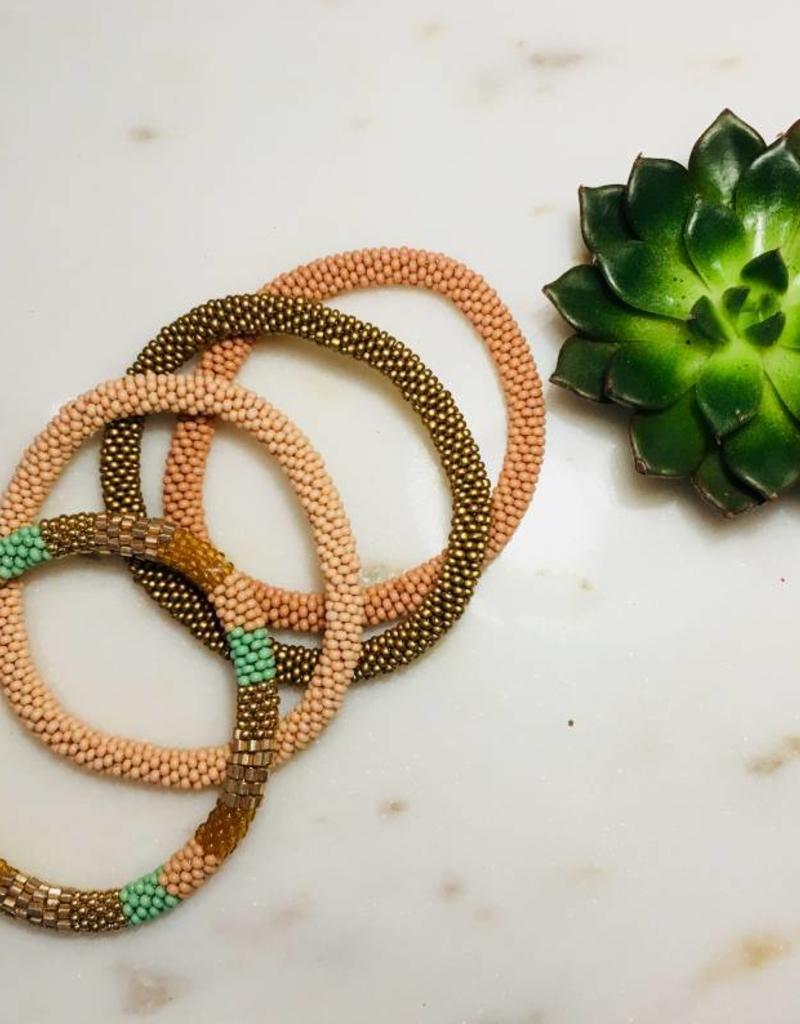 Biba Biba- Armband beads - dark nude