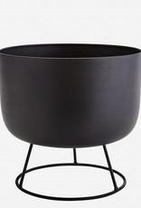 Madam Stoltz Madam Stoltz - Flowerpot round stand black