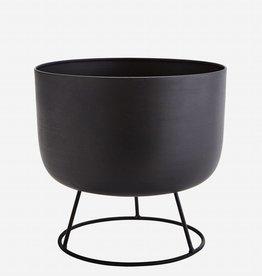 Madam Stoltz Flowerpot round stand black