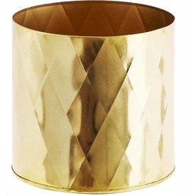 Madam Stoltz Bloempot iron harlequin pattern - gold small