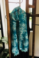 Fashion - Sjaal - groen batik