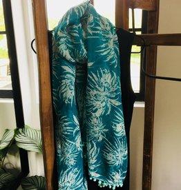 Sjaal - groen batik