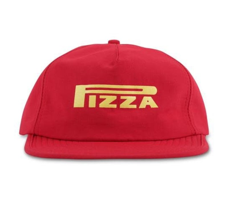 Pizza Pepperelli 5 Panel Cap Red