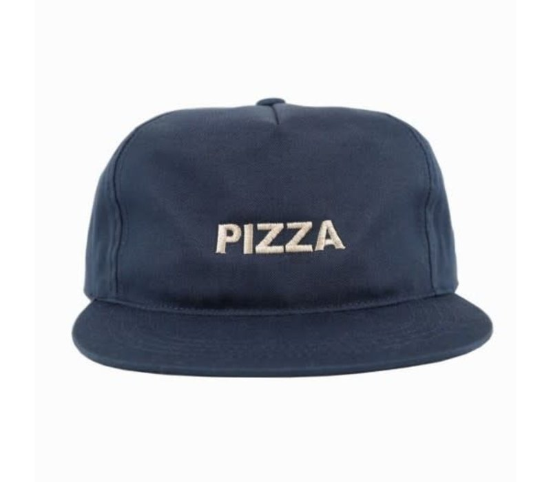 Pizza Logo Unstructured Cap Navy
