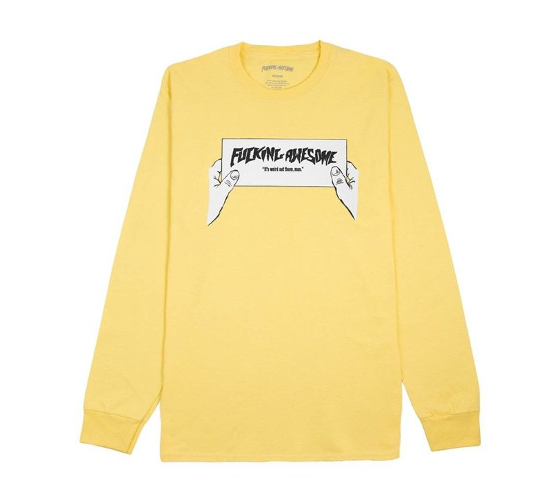 FA Weird Out Tee Yellow