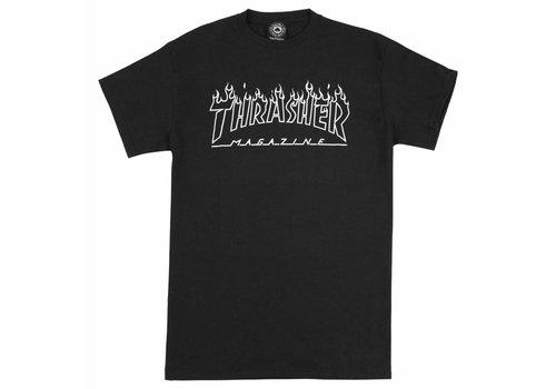 Thrasher Thrasher Flame Outline Tee Black