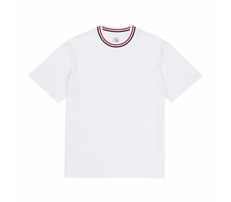 Polar Striped Rib Tee White