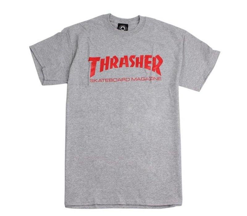 Thrasher Skate Mag Tee Grey / Red Logo