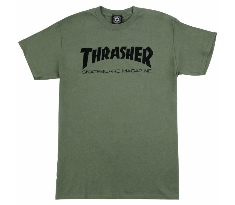 Thrasher Skate Mag Tee Army Green