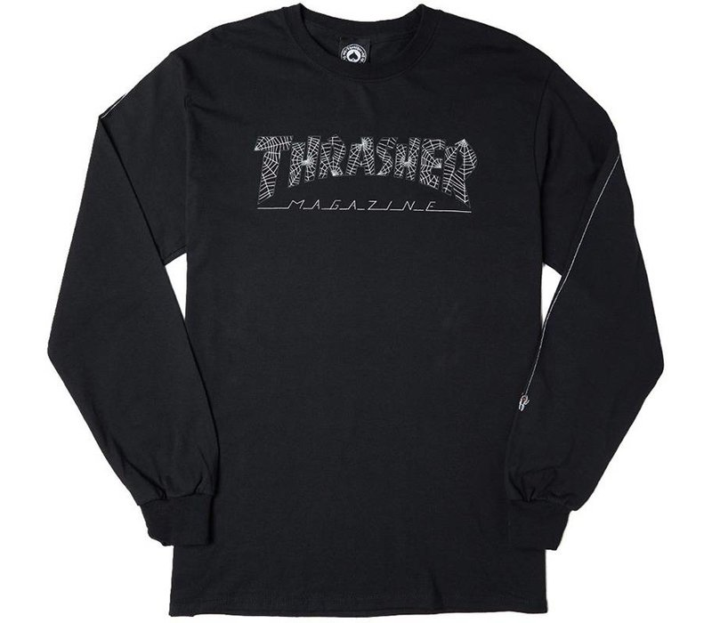 Thrasher Web Logo L/S Black