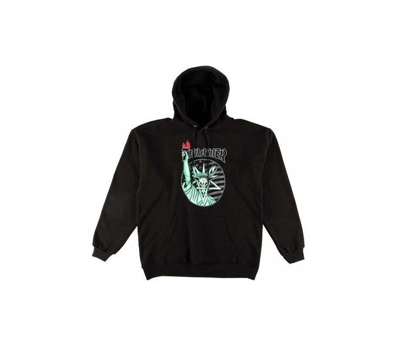 Thrasher Liberty Goat Hood Black