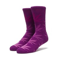 Huf Fader Plantlife Crew Socks Purple