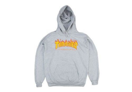 Thrasher Thrasher Flame Hood Grey