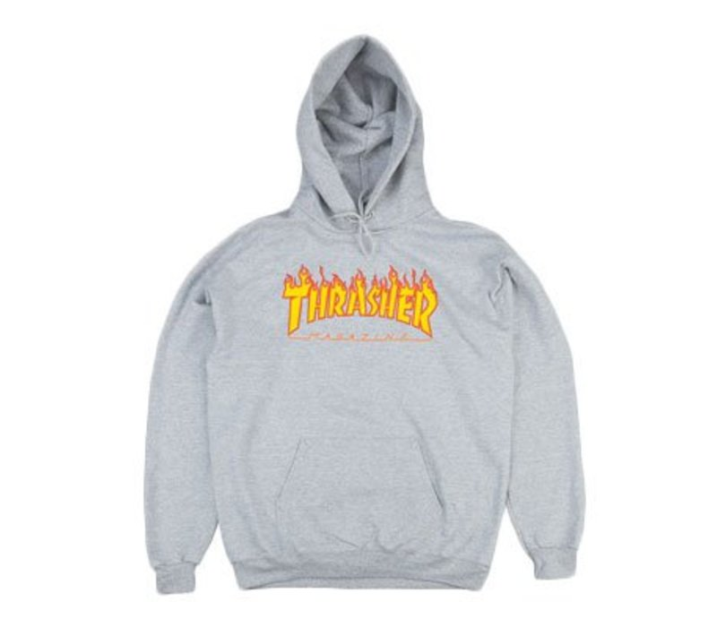 Thrasher Flame Hood Grey